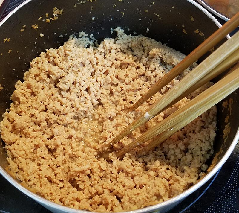 鶏そぼろの美味しい作り方